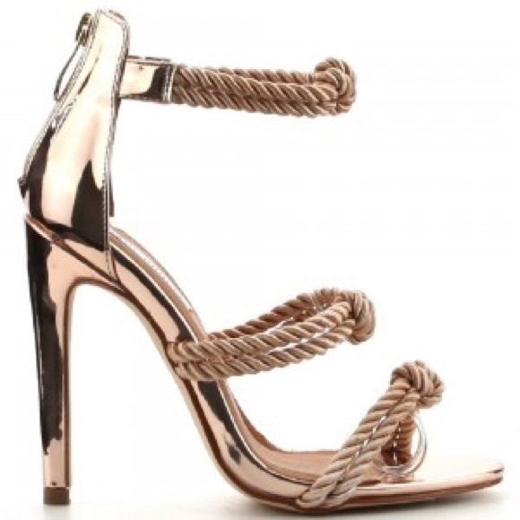6b65fded7e6b Cape Robbin Unane rose gold rope sandals sexy 7.5